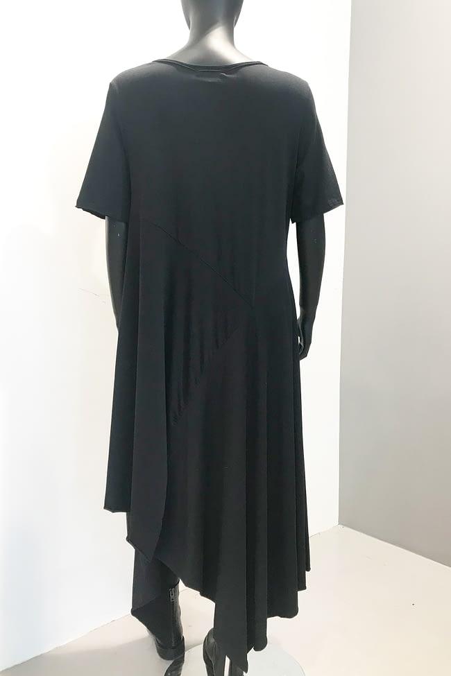 IVAN GRUNDAHL AVANTGARDE SIBA JERSEY A-SYMMETRIC COTTON A-DRESS