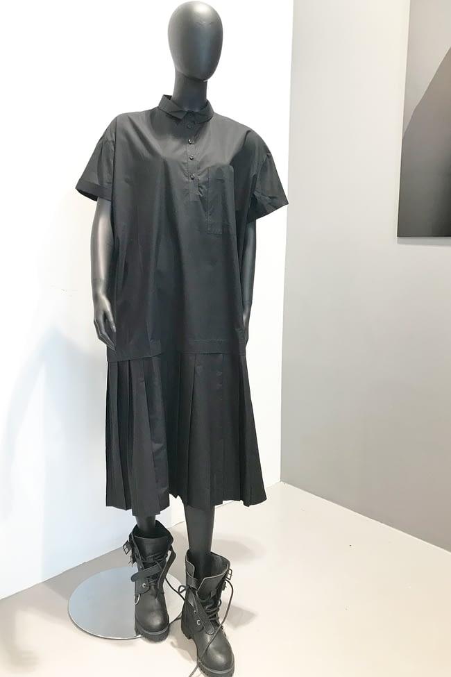 IVAN GRUNDAHL AVANTGARDE COTTON OVERSIZED DRESS