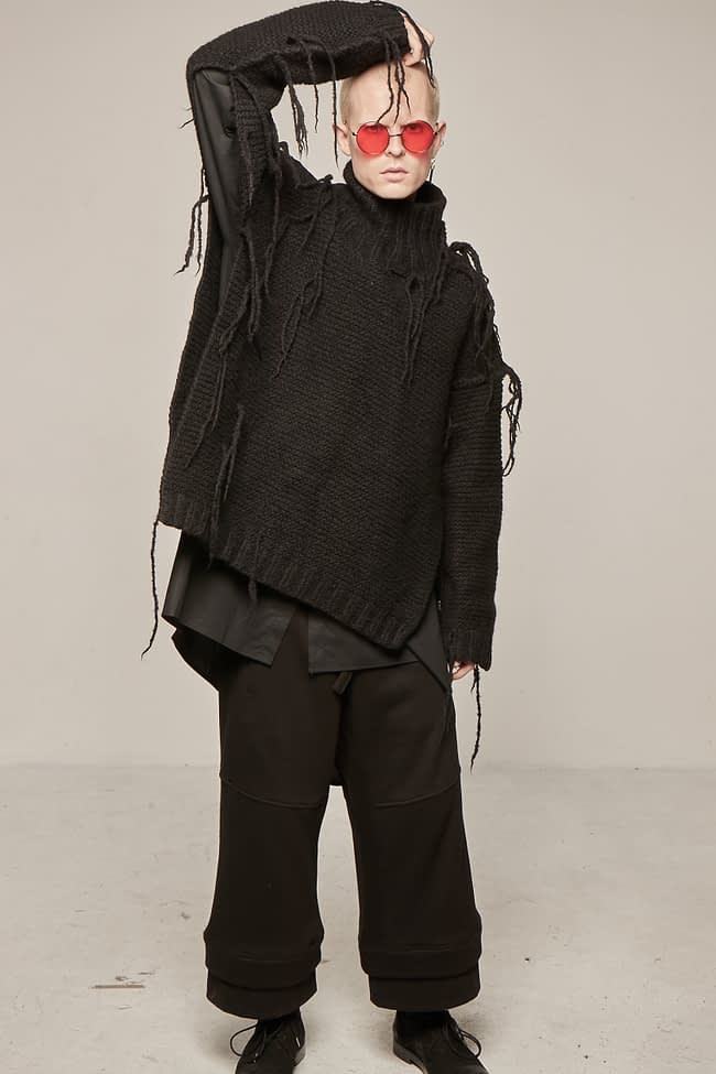 Ivan Grundahl avantgarde deconstructed wool sweater