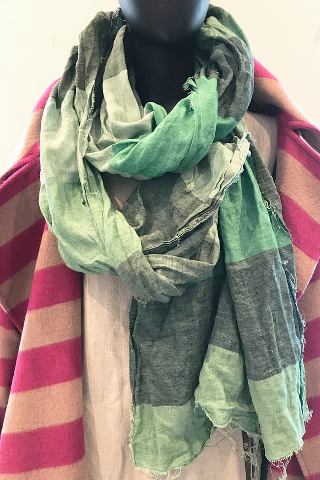 IVAN GRUNDAHL avantgarde GREEN UPCYCLE REUSE LOOP SCARF