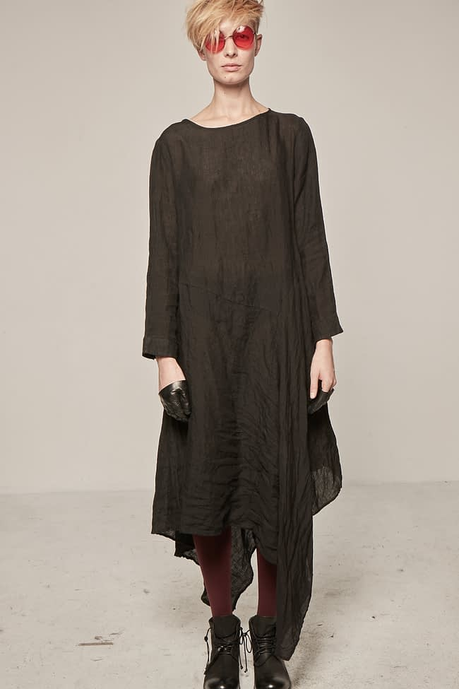 Ivan Grundahl avantgarde asymmetric linen dress