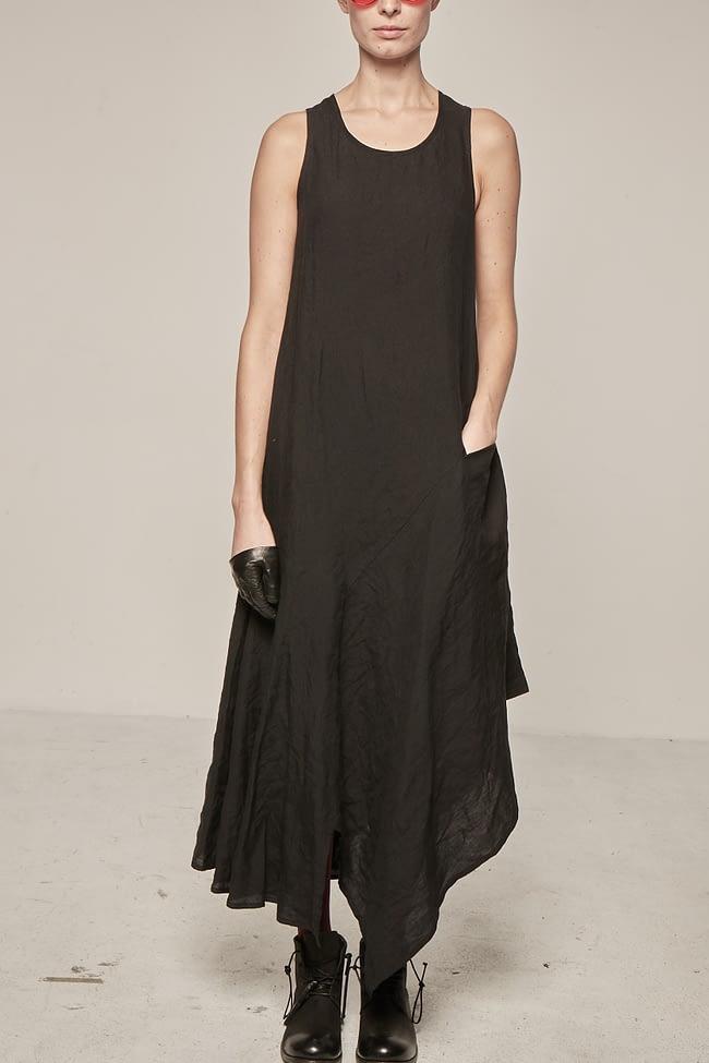 Ivan Grundahl avantgarde asymmetric linen dress