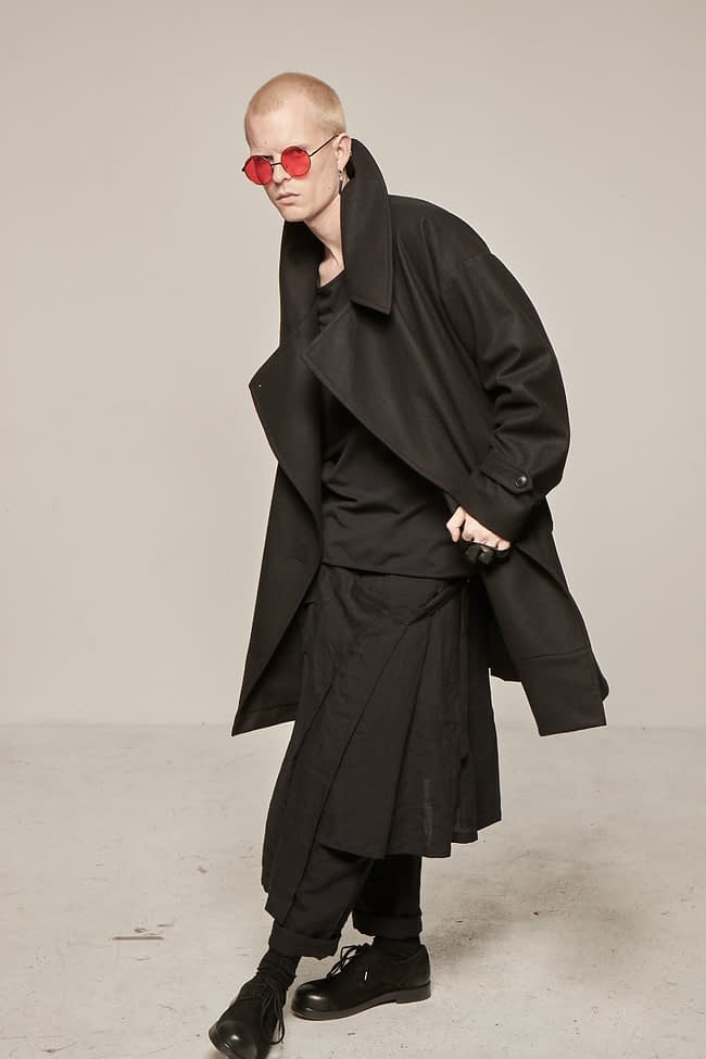 Ivan Grundahl avantgarde Wool Coat Black
