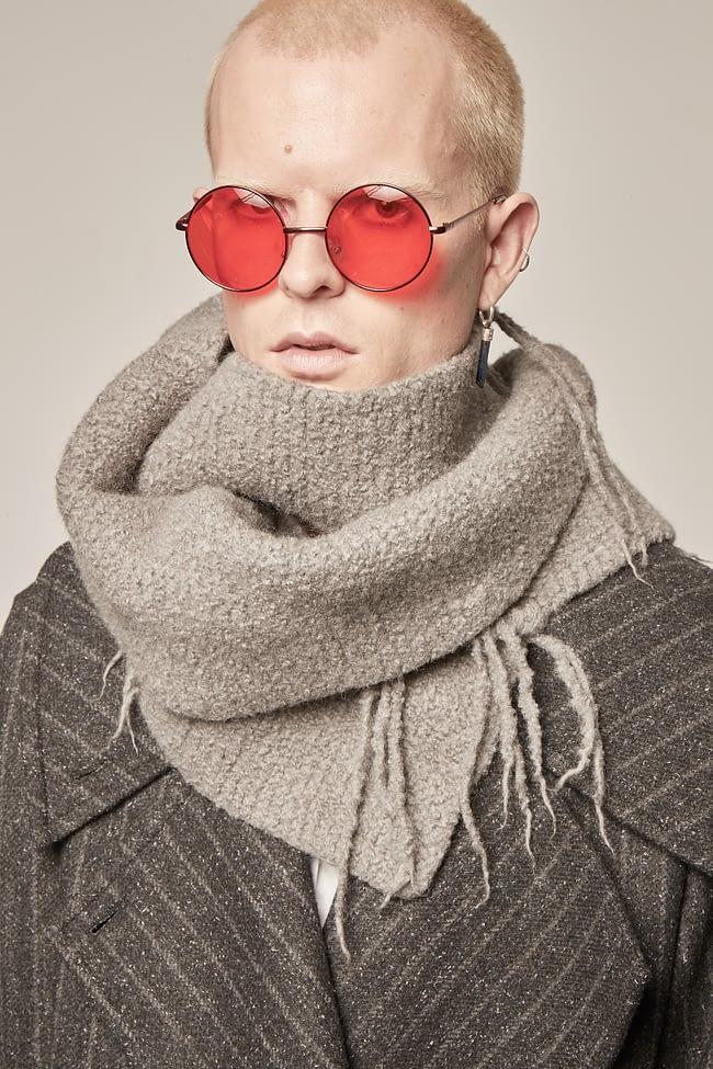 Ivan Grundahl avantgarde deconstructed wool scarf