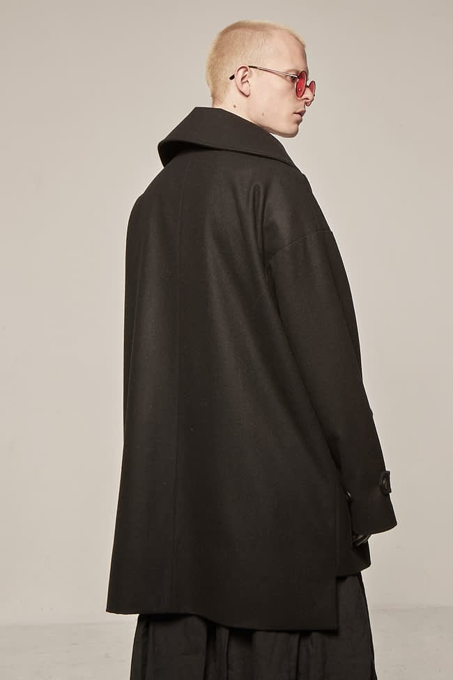 Ivan Grundahl avantgarde Wool Coat Black