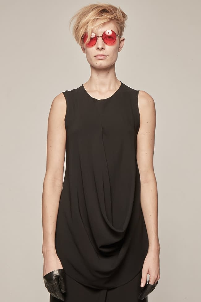 Ivan Grundahl avantgarde draped upcycled top