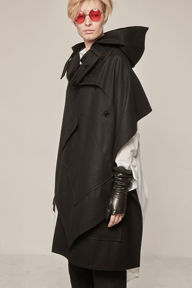 Ivan Grundahl Avantgarde Wool Cape black