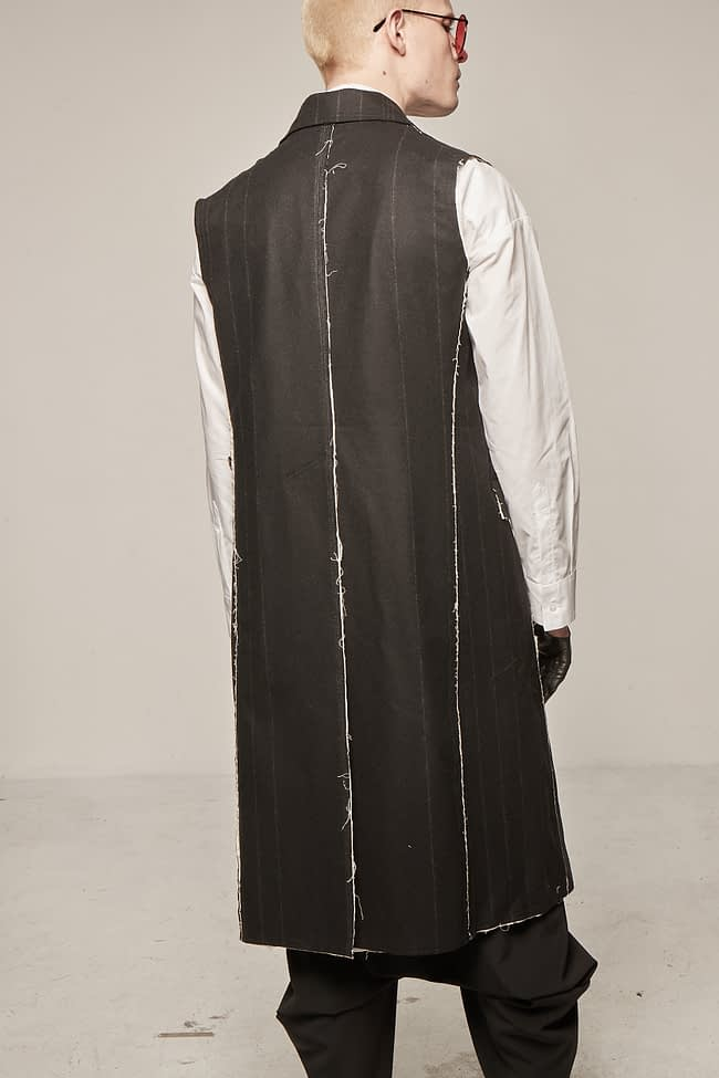 Ivan Grundahl avantgarde long wool waistcoat