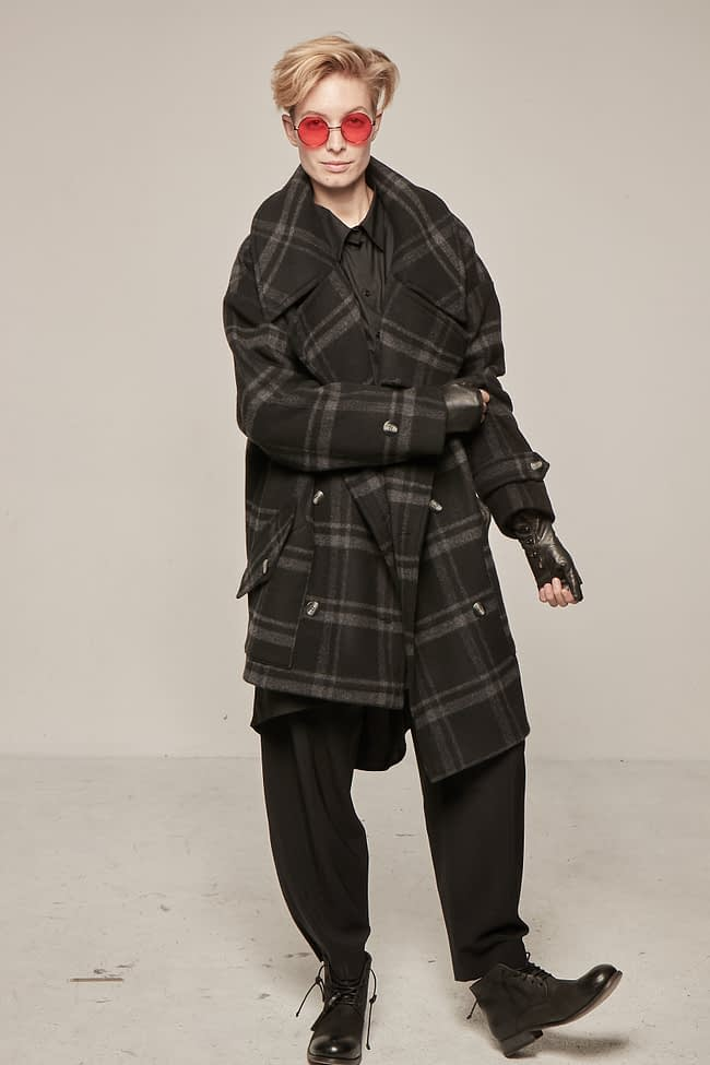 Ivan Grundahl avantgarde Wool Coat checkered
