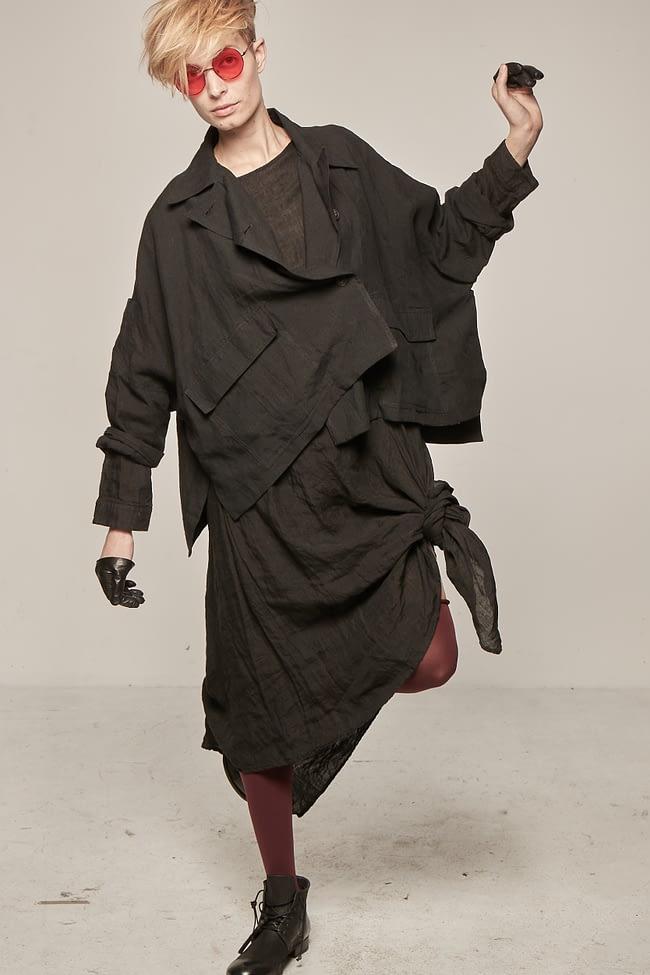 Ivan Grundahl avantgarde oversized linen jacket