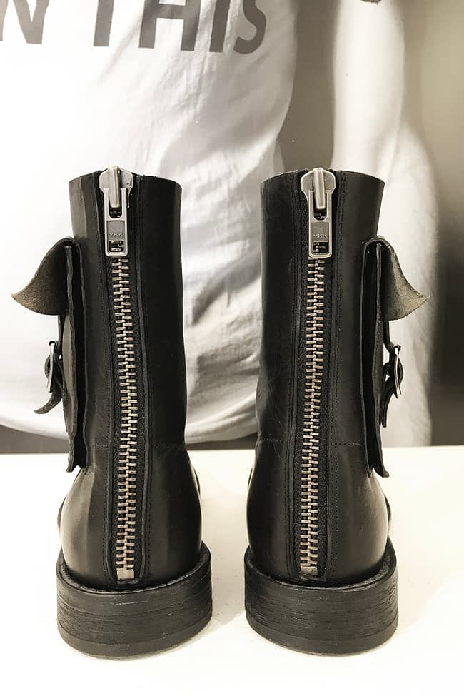 IVAN GRUNDAHL LEATHER BIKE BOOT WITH POCKETS