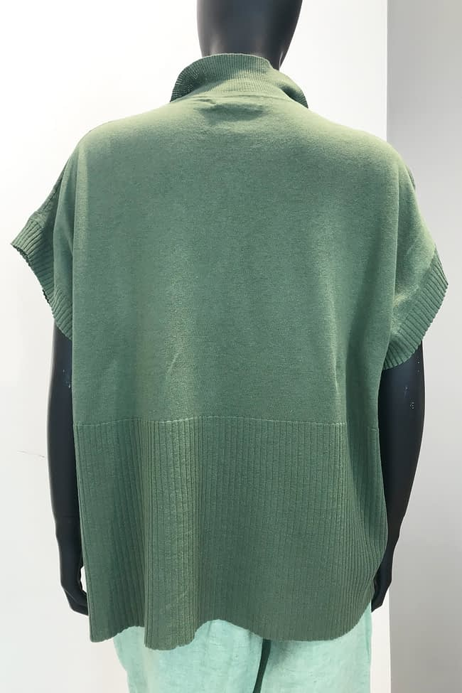 IVAN GRUNDAHL AVANTGARDE COTTON KNIT BLOUSE
