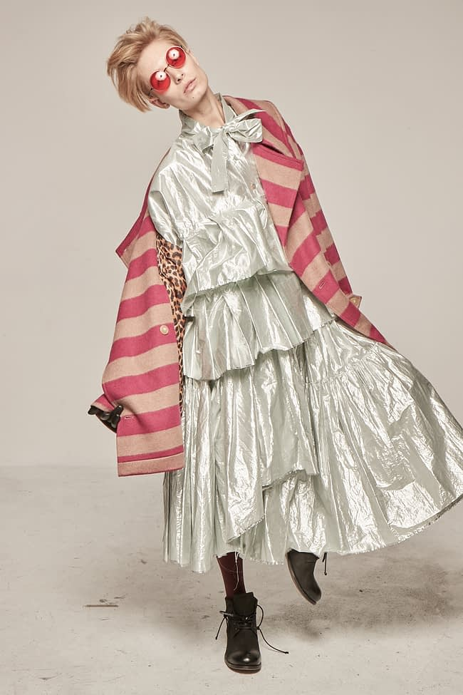Ivan Grundahl Avantgarde Wool Coat Magenta
