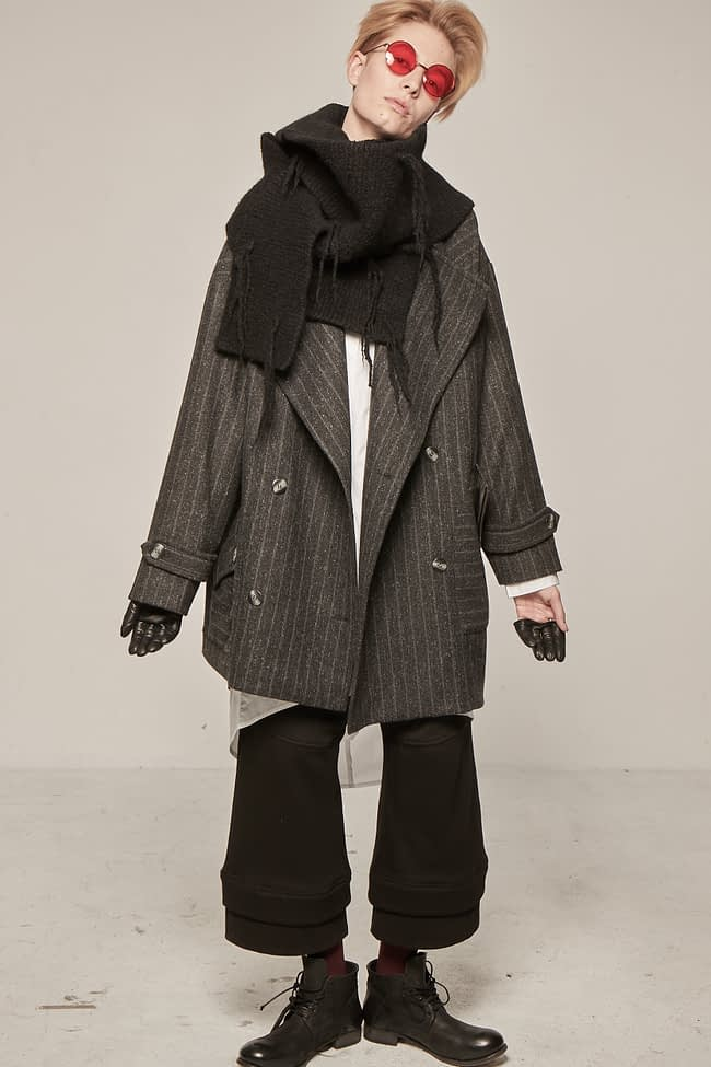 Ivan Grundahl Coat Thin Stribe Avantgarde