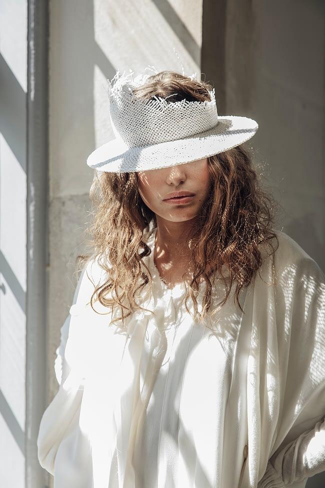 IVAN GRUNDAHL avantgarde DECONSTRUCTED STRAW CAP